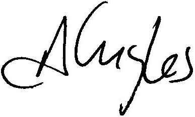 Andre Gingles electronic signature